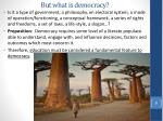 but what is democracy