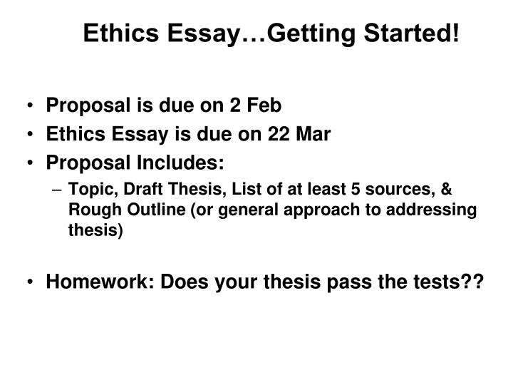 Essay ethics topic