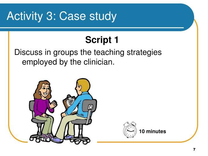 Activity 3: Case study