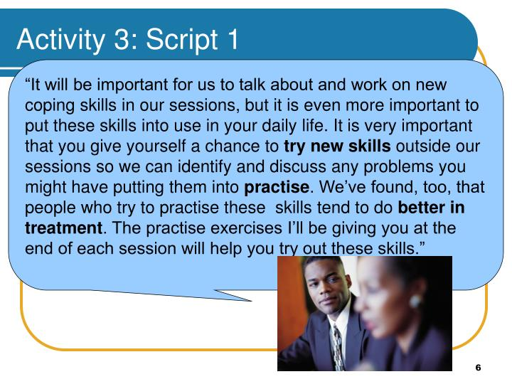 Activity 3: Script 1