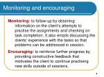 monitoring and encouraging