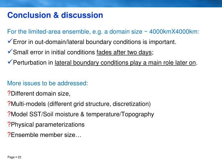 Conclusion & discussion