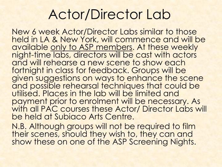 Actor/Director Lab