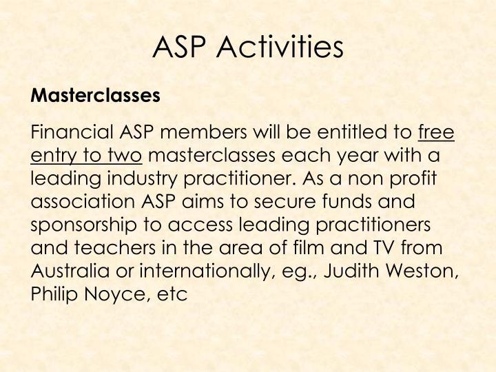 ASP Activities