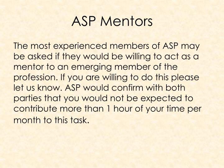 ASP Mentors