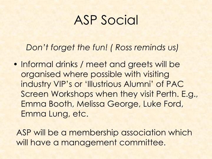 ASP Social