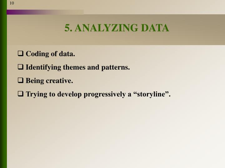 5. ANALYZING DATA