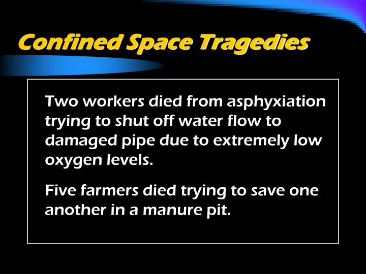 Confined Space Tragedies