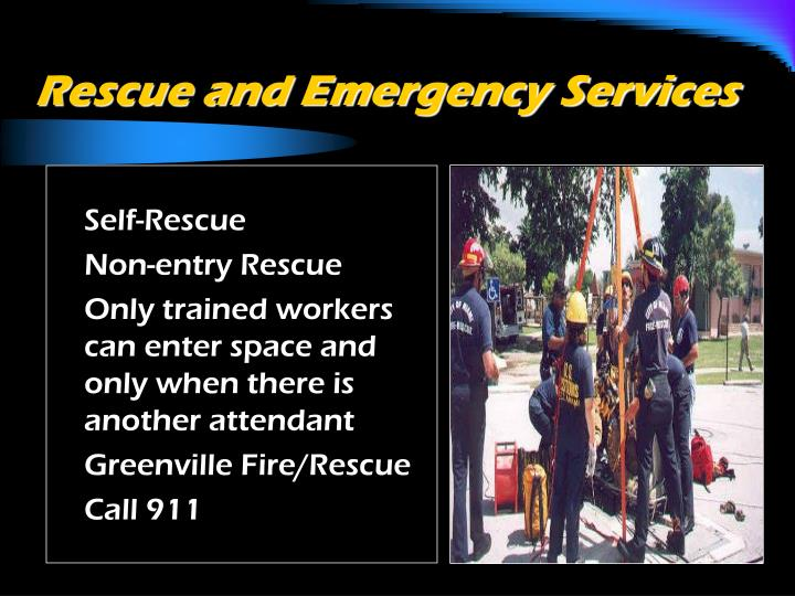 Rescue and Emergency Services
