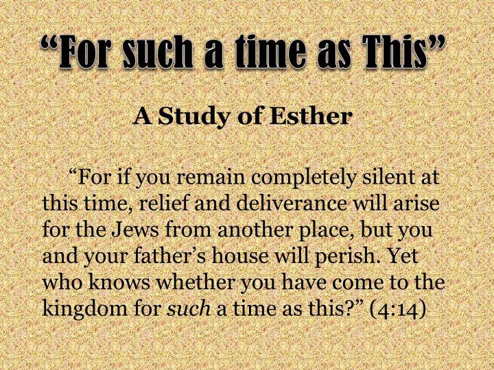 A study of esther
