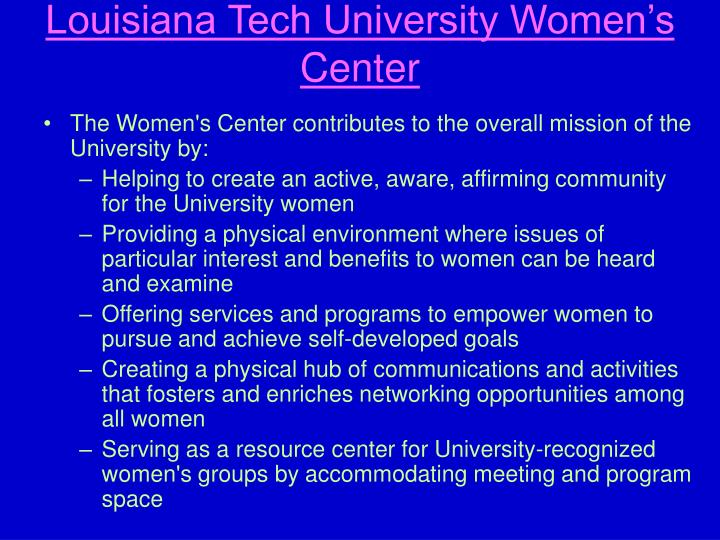 Louisiana Tech University Women's Center