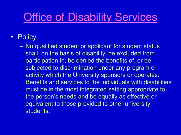 Office of Disability Services