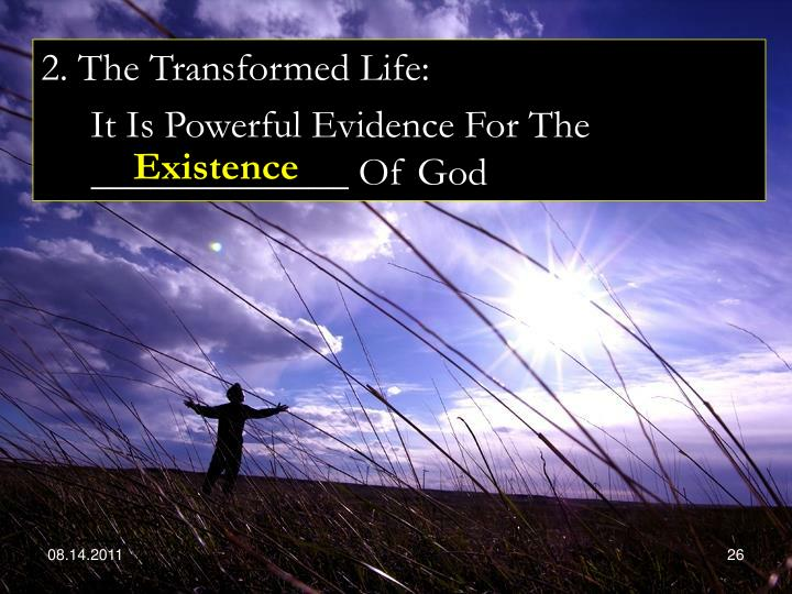 2. The Transformed Life: