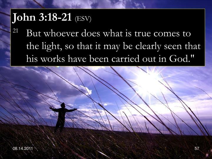John 3:18-21