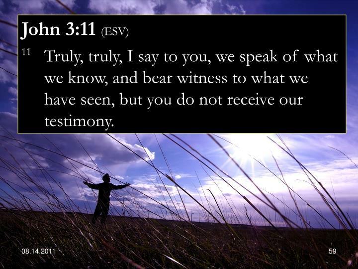 John 3:11