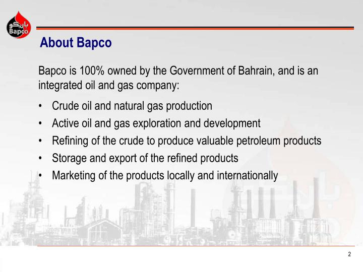 About bapco