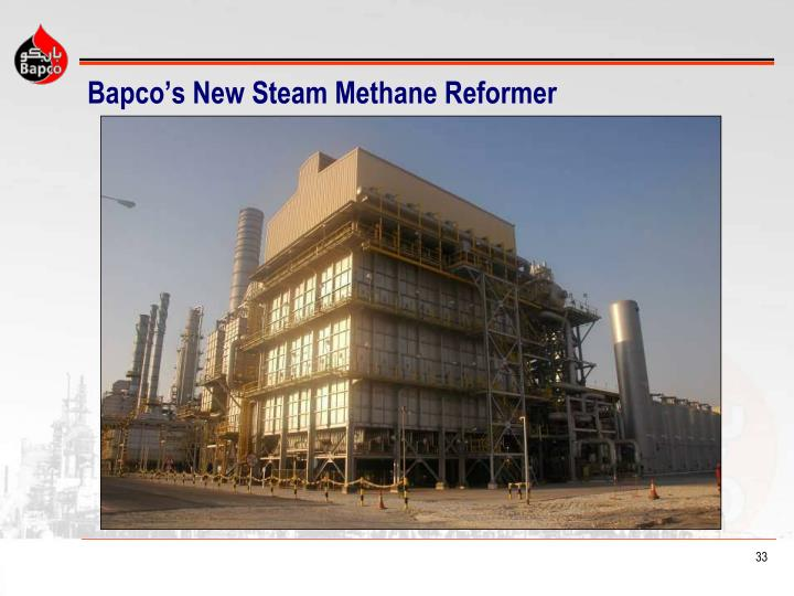 Bapco's New Steam Methane Reformer