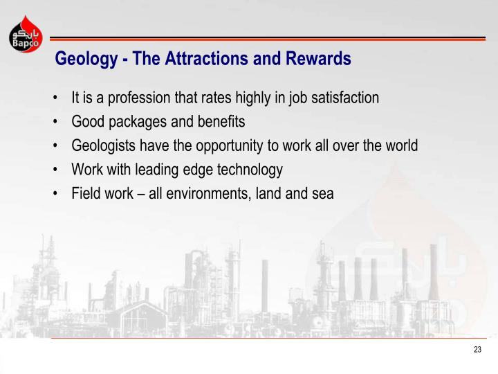 Geology - The Attractions and Rewards