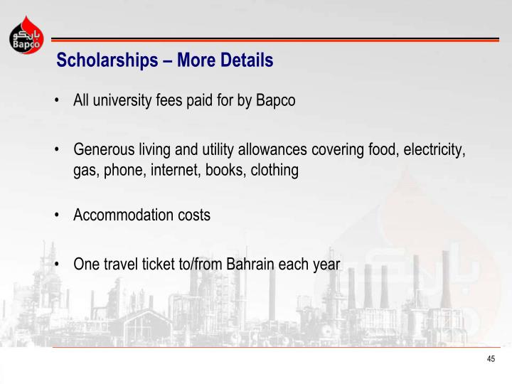 Scholarships – More Details