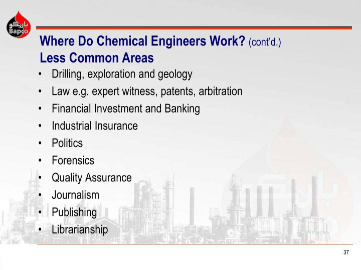 Where Do Chemical Engineers Work?