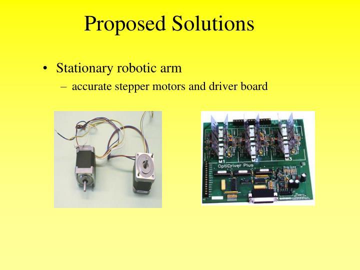 Stationary robotic arm