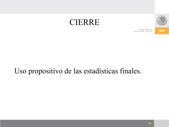 CIERRE