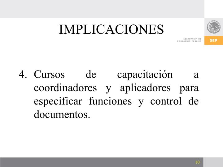 IMPLICACIONES