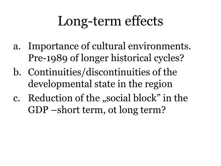 Long-term effects