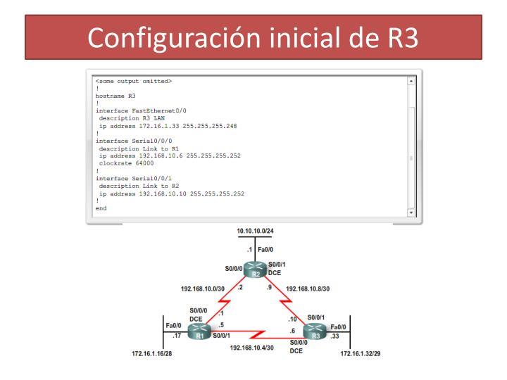 Configuración inicial de R3