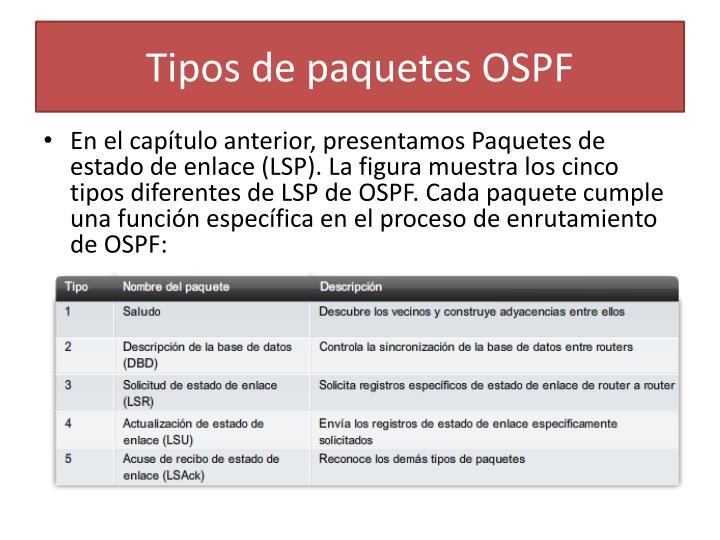 Tipos de paquetes OSPF