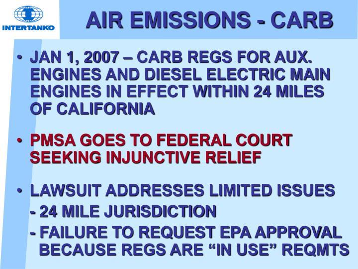 AIR EMISSIONS - CARB