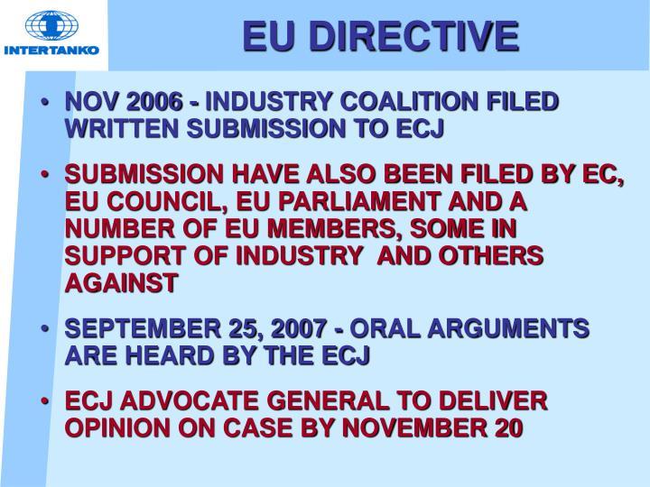 EU DIRECTIVE