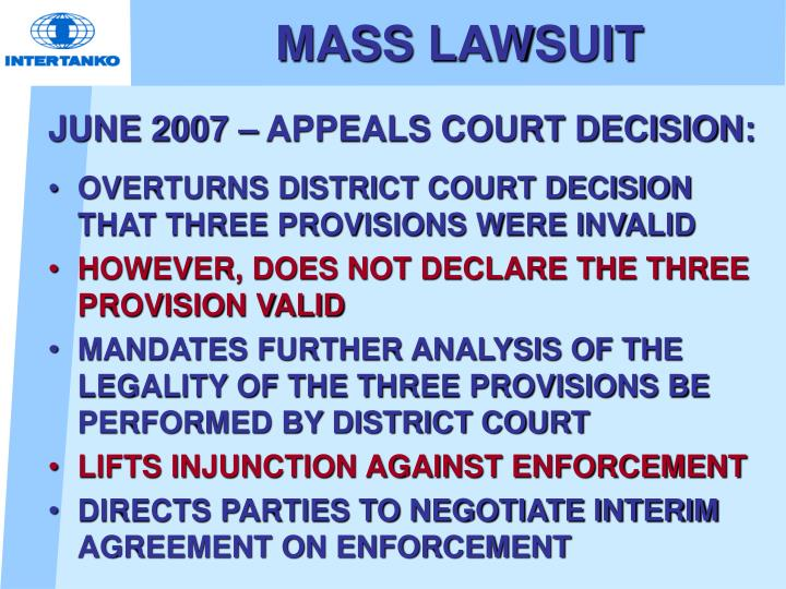 MASS LAWSUIT