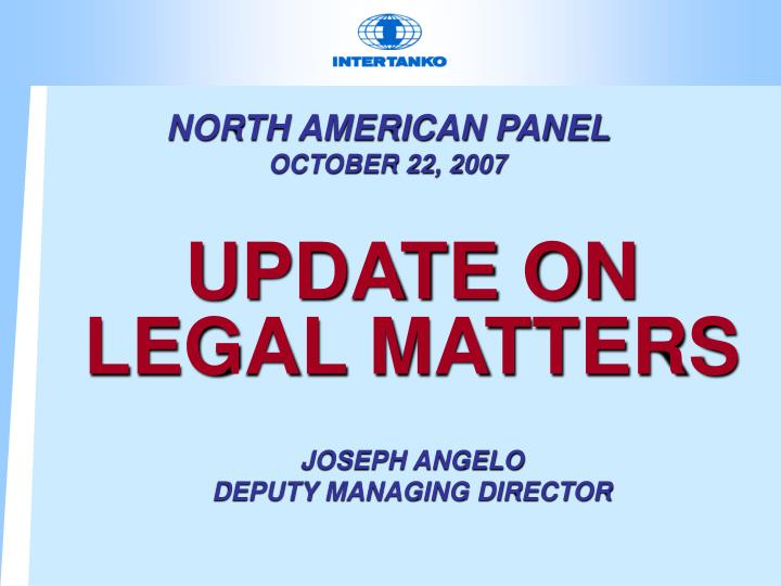 north american panel october 22 2007
