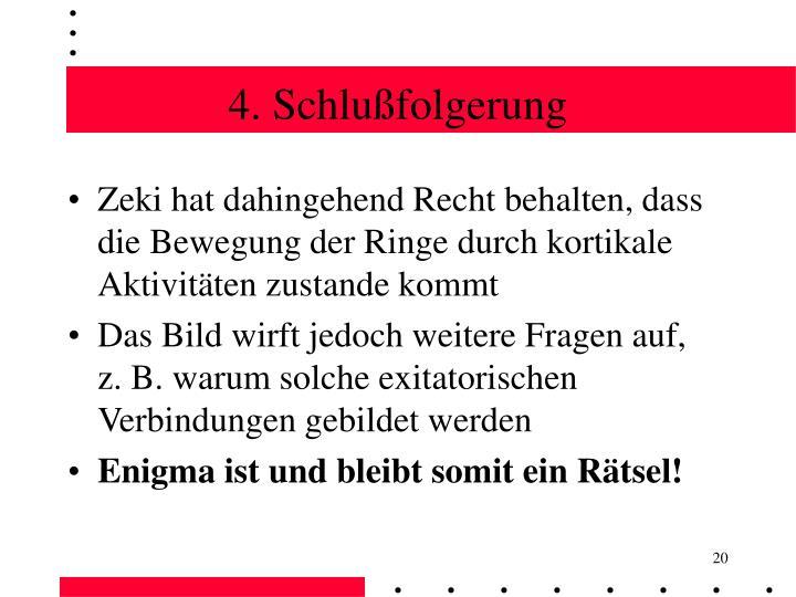 4. Schlußfolgerung