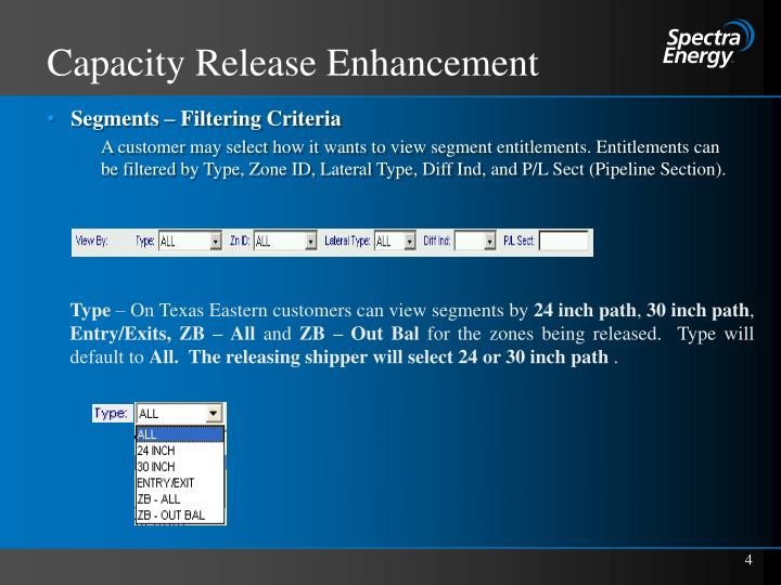 Capacity Release Enhancement