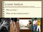 learner analysis http lrieber myweb uga edu edit6170 ppt learner context ppt