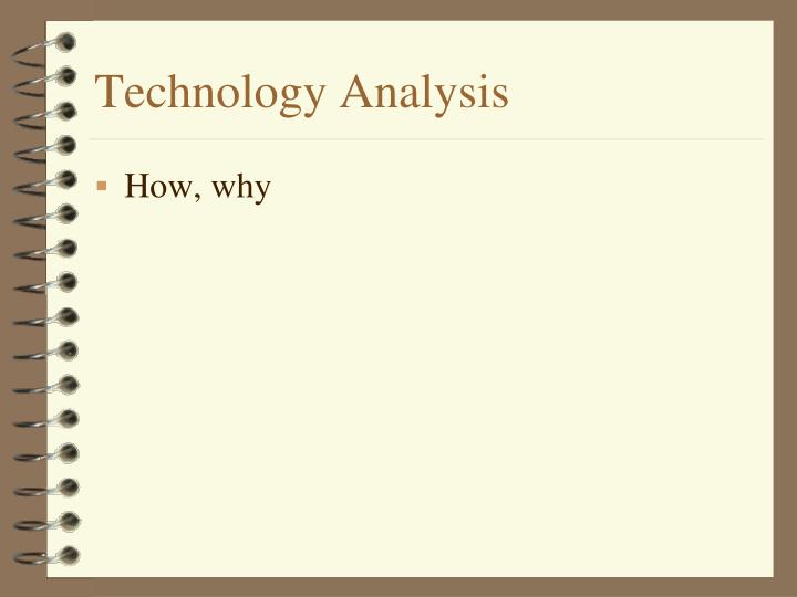 Technology Analysis