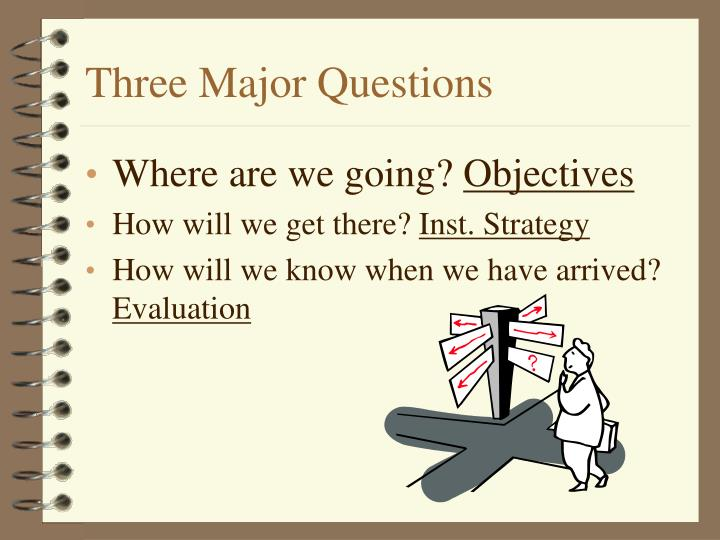 Three major questions