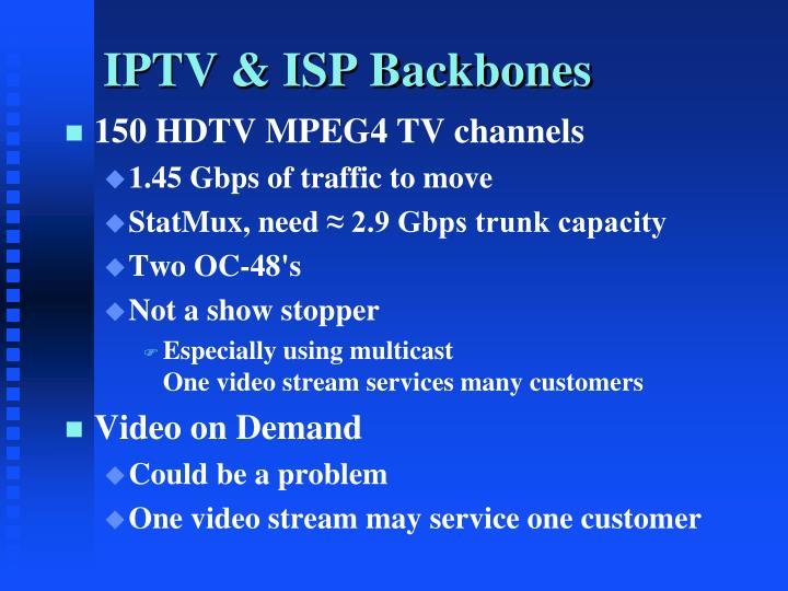 IPTV & ISP Backbones