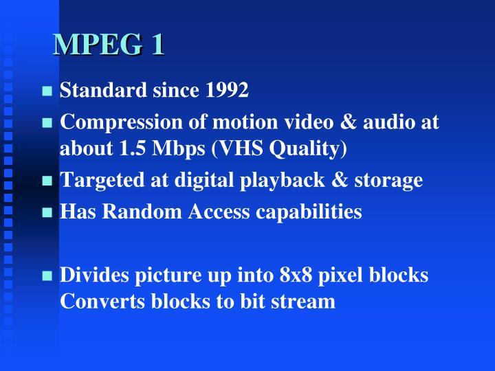 MPEG 1