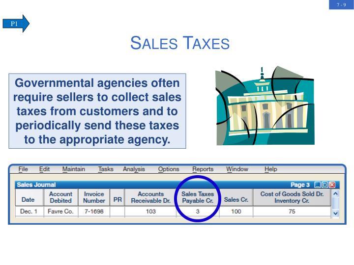 Sales Taxes
