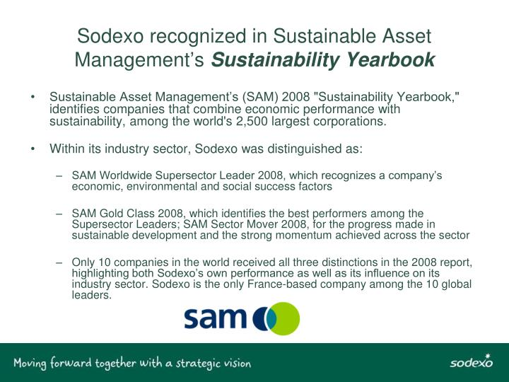 Sodexo recognized in Sustainable Asset Management's