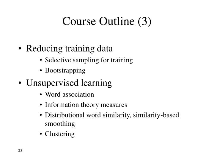Course Outline (3)