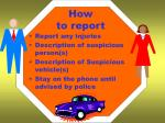 how to report1