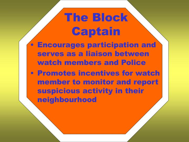 The Block Captain