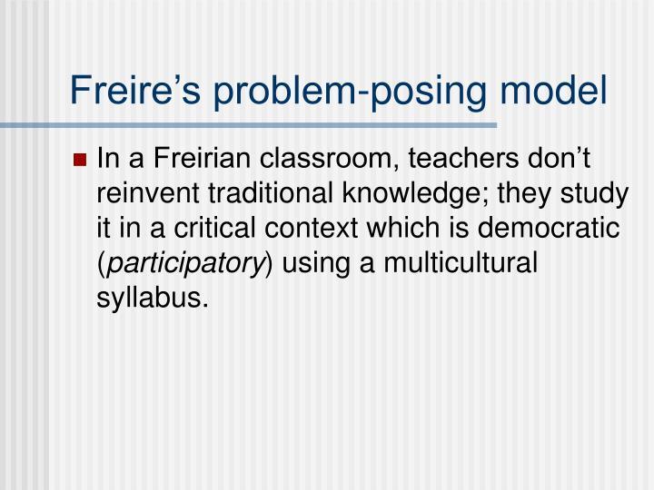 Freire's problem-posing model