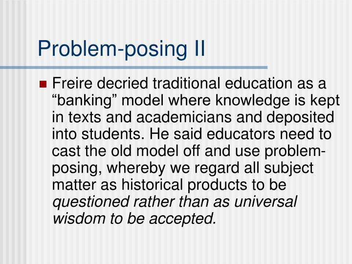 Problem-posing II