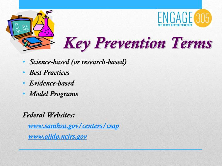 Key Prevention Terms