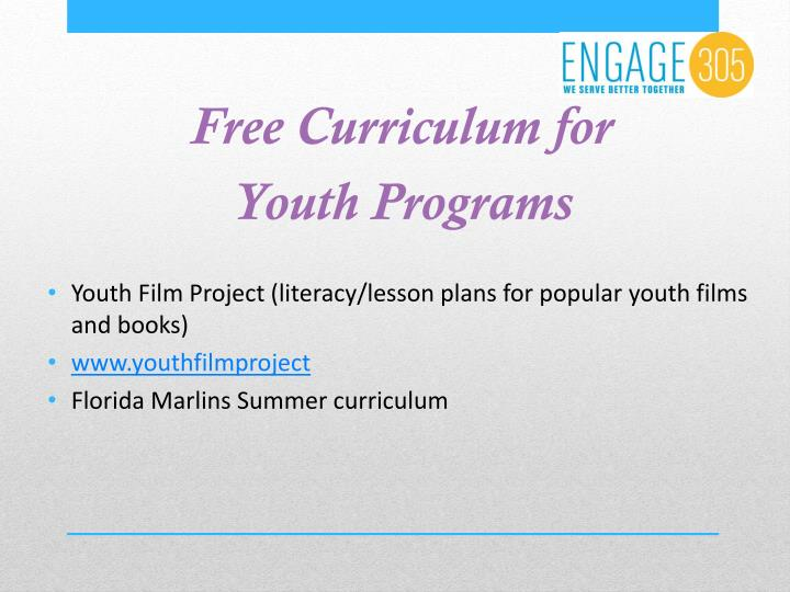 Free Curriculum for